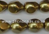 CSB894 15.5 inches 15*20mm teardrop shell pearl beads wholesale