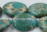 CSE10 15.5 inches 22*30mm oval natural sea sediment jasper beads
