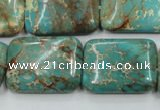 CSE16 15.5 inches 18*25mm rectangle natural sea sediment jasper beads