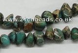 CSE5019 15.5 inches 8*12mm nuggets natural sea sediment jasper chip beads
