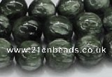 CSH05 15.5 inches 14mm round natural seraphinite gemstone beads