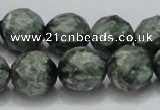 CSH10 15.5 inches 16mm faceted round natural seraphinite beads