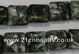 CSH103 15.5 inches 14*14mm square natural seraphinite gemstone beads