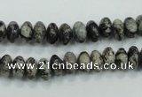 CSI04 15.5 inches 4*8mm rondelle silver scale stone beads wholesale