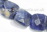 CSO05 15.5 inches A grade 8mm faceted square sodalite beads