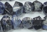 CSO103 15.5 inches 13*18mm faceted nugget sodalite gemstone beads