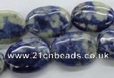 CSO214 15.5 inches 15*20mm oval sodalite gemstone beads