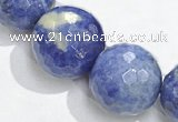 CSO22 AB grade 16mm faceted round sodalite beads wholesale