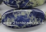 CSO220 15.5 inches 25*50mm oval sodalite gemstone beads