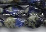 CSO221 15.5 inches 10*15mm marquise sodalite gemstone beads
