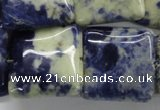 CSO238 15.5 inches 25*25mm square sodalite gemstone beads
