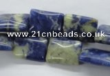 CSO240 15.5 inches 12*16mm rectangle sodalite gemstone beads