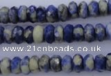 CSO33 15.5 inches 5*10mm faceted rondelle sodalite gemstone beads