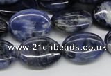 CSO48 15.5 inches 15*20mm oval sodalite gemstone beads wholesale