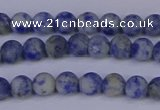 CSO530 15.5 inches 4mm round matte African sodalite beads wholesale