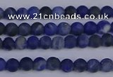 CSO540 15.5 inches 4mm round matte sodalite beads wholesale