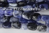 CSO55 15.5 inches 4*6mm nuggets sodalite gemstone beads