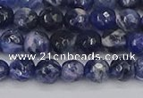 CSO559 15.5 inches 6mm faceted round sodalite gemstone beads