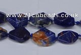 CSO640 15.5 inches 10*12mm - 12*16mm freeform orange sodalite beads