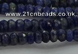 CSO661 15.5 inches 4*6mm faceted rondelle sodalite gemstone beads