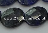 CSO710 15.5 inches 20mm faceted coin sodalite gemstone beads