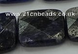 CSO731 15.5 inches 25*25mm faceted square sodalite gemstone beads