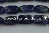 CSO735 15.5 inches 8*12mm faceted rectangle sodalite gemstone beads