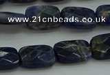 CSO736 15.5 inches 10*14mm faceted rectangle sodalite gemstone beads
