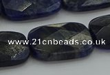 CSO740 15.5 inches 18*25mm faceted rectangle sodalite gemstone beads