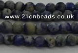 CSO800 15.5 inches 4mm round matte orange sodalite gemstone beads