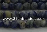 CSO801 15.5 inches 6mm round matte orange sodalite gemstone beads
