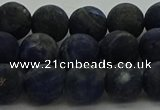 CSO813 15.5 inches 10mm round matte sodalite gemstone beads