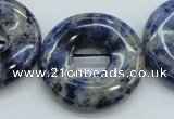 CSO82 15.5 inches 30mm donut sodalite gemstone beads wholesale