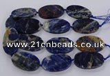 CSO820 15.5 inches 30*50mm - 32*52mm oval orange sodalite beads