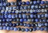CSO846 15 inches 6mm faceted round sodalite beads wholesale