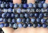 CSO848 15 inches 10mm faceted round sodalite beads wholesale