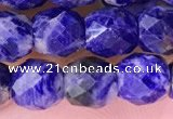 CSO850 15.5 inches 6*6mm faceted drum sodalite beads wholesale
