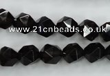 CSQ353 15.5 inches 10mm faceted nuggets smoky quartz beads