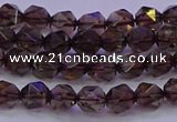CSQ521 15.5 inches 6mm faceted nuggets smoky quartz beads
