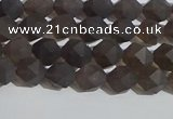 CSQ531 15.5 inches 6mm faceted nuggets matte smoky quartz beads