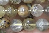 CSQ802 15.5 inches 8mm round scenic quartz beads wholesale
