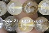 CSQ803 15.5 inches 10mm round scenic quartz beads wholesale