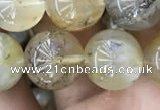 CSQ805 15.5 inches 14mm round scenic quartz beads wholesale