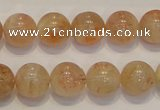 CSS18 15.5 inches 12mm round natural sunstone beads wholesale