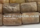 CSS401 15.5 inches 10*14mm - 10*17mm tube sunstone beads wholesale