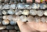 CSS406 15.5 inches 12*16mm - 15*20mm faceted nuggets sunstone beads