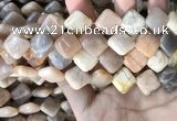 CSS430 15.5 inches 14*14mm diamond sunstone beads wholesale