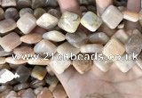 CSS431 15.5 inches 16*16mm diamond sunstone beads wholesale