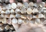 CSS436 15.5 inches 14mm twisted coin sunstone beads wholesale
