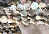 CSS438 15.5 inches 18mm twisted coin sunstone beads wholesale